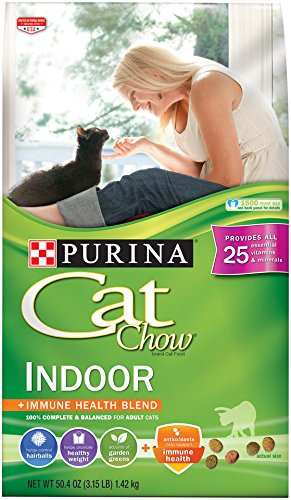 Purina Cat Chow Hairball, Healthy Weight, Indoor Dry Cat Food; Indoor - 3.15 lb. Bag