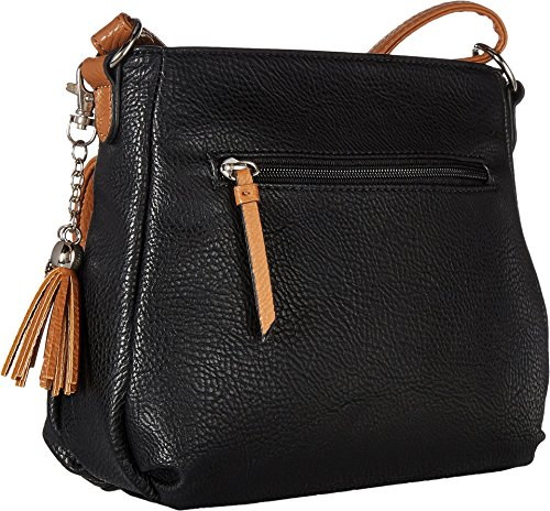 Jessica Simpson Women's Miriam Crossbody Black/Cognac Crossbody Bag