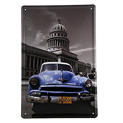 Amazon VictorJoan Wholesale HOT CARSRetro Metal Art Aluminum Custom Wholesale Home Decor Signs