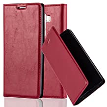 Cadorabo - Book Style Wallet with Stand Function for LG G4 with Card Slot and invisible Magnetic Closure - Etui Case Cover Protection in APPLE-RED