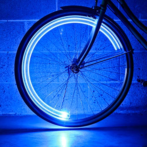 Monkey Light - Monkey Light A15 Automatic Bicycle Wheel Light, Multicolor LED Lights for Bicycle Wheels, Attaches to Bike Spokes Near The Tire. Colors Change with Your Speed, Ultra-Durable and Waterproof. 4 LEDs