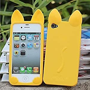 YULIN iPhone 4/4S/iPhone 4 compatible Solid Color/Special Design Back Cover , Black