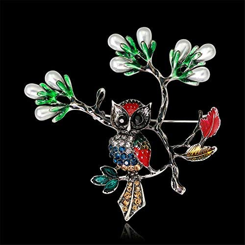 Valentines Day Christmas Flower Pearl Brooch Wedding Jewerly Gift for Mother Fashion Animal Bird Brooches Pin