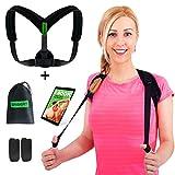 Back Posture Corrector for Women Men & Kids - Adjustable Posture Brace for Hunch Back - Clavicle Support for Upper Back Pain Relief + Carry Bag