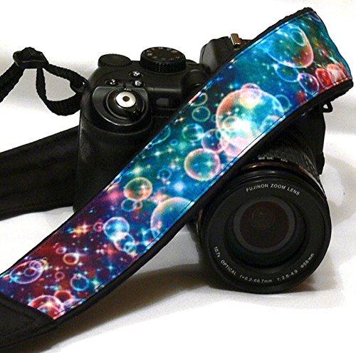 Bubbles Camera Strap. DSLR SLR Camera Strap. Multicolor Camera Strap. Camera Accessories; 095