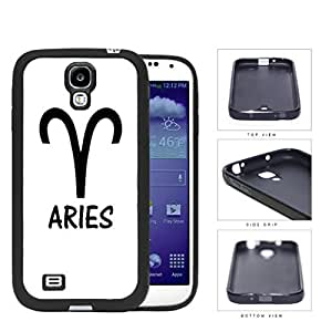 Aries Horoscope Sign Symbol Black and White Hard Rubber TPU Phone Case Cover Samsung Galaxy S4 I9500