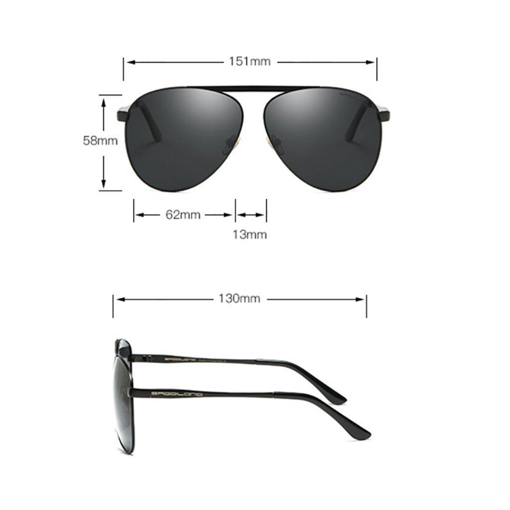 Sunglasses Hombre gafas gafas B01M2D9X9O de sol polarizado Aviador ...