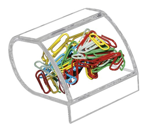 Kantek Acrylic Paper Clip Holder, 3.1-Inch Wide x 3.3-Inch Deep x 2.6-Inch High, Clear (AD40)