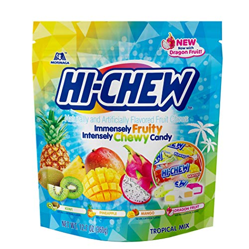 Hi-Chew Sensationally Chewy Fruit Candy, Tropical Mix, 12.7 Ounce, 4 Count