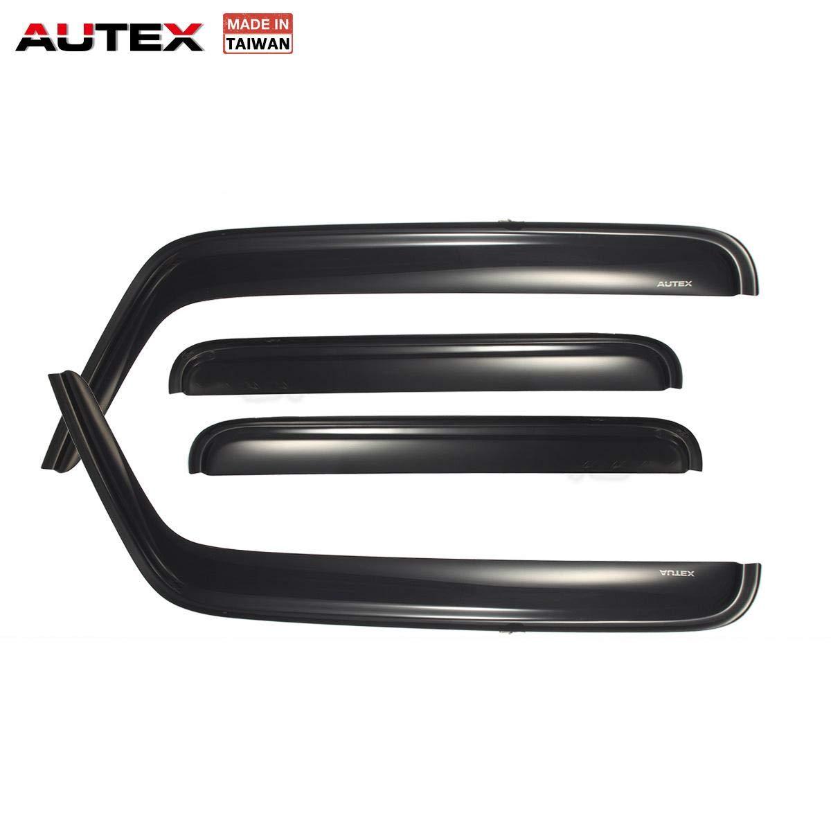 AUTEX Tape on Window Visor Compatible with H3 2005 2006 2007 2008 2009 Side Window Wind Deflector Sun Rain Guard