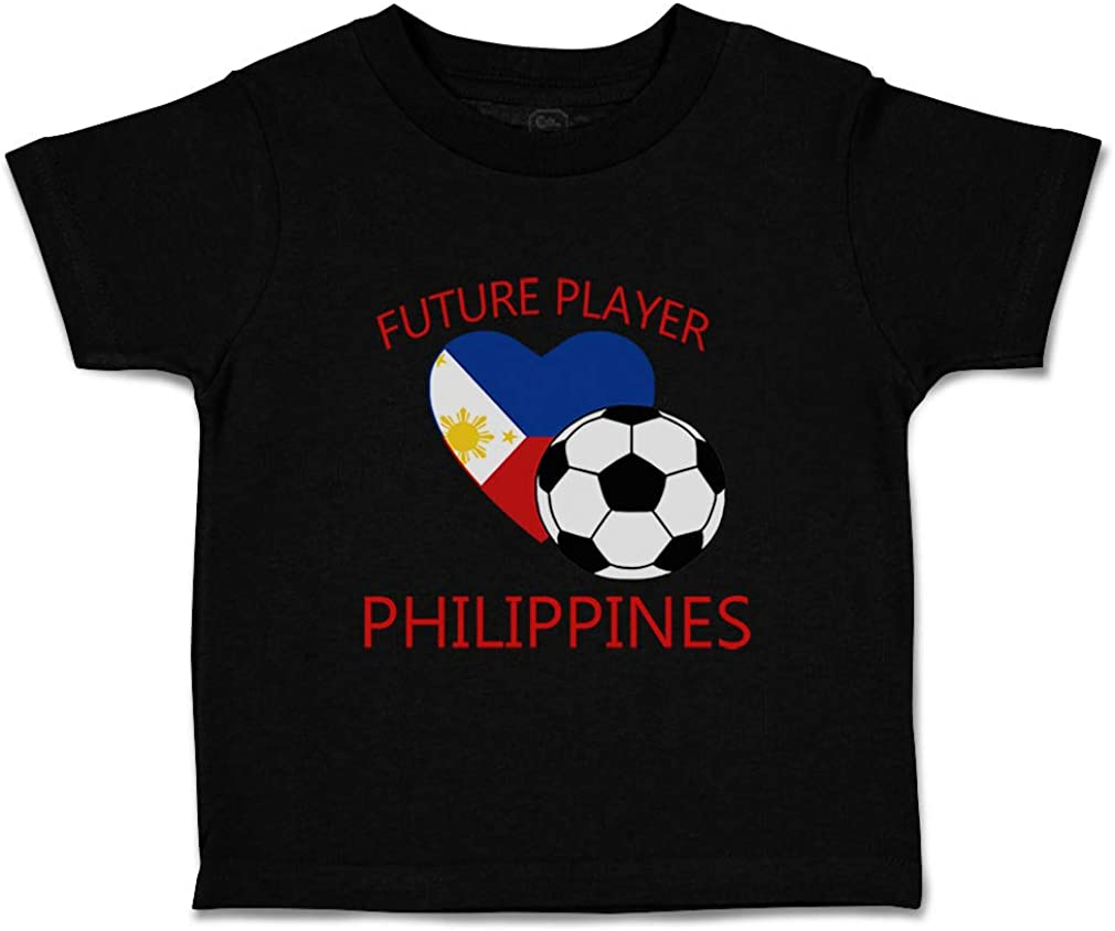 Custom Baby /& Toddler T-Shirt Future Soccer Player Philippines Boy Girl Clothes