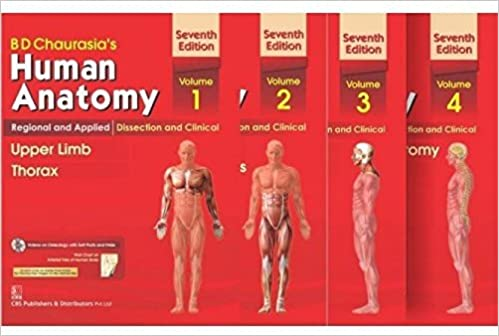 Buy Human Anatomy By B D Chaurasia's 7th Edition (Set Of 4