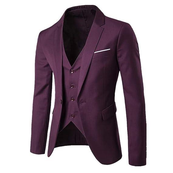 Amazon.com: PASATO - Chaleco para hombre, traje delgado, 3 ...