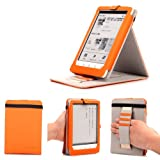 Mulbess - Sony PRS-T3 Stand Case Cover - Leather Case Cover with Elastic Hand Strap for Sony PRS-T3 Color Orange