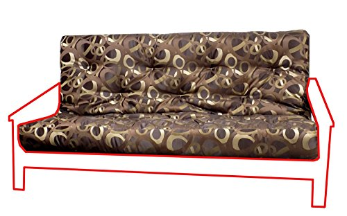 - Royal Sleep Products Futon Mattress Upholstery Grade Cover 9 Layer Full/Queen Factory Direct (Full, Orbiter Mocha)