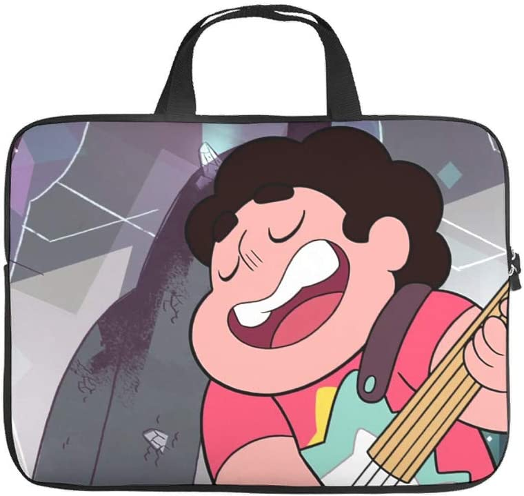 Funny Cartoon Character Laptop Sleeve Steven Universe 3D Laptop Computer Sleeve Anti-Scratch Neoprene Laptop Computer Bag White 12inch