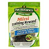 Cardinal Pet Botanics Mini Training Rewards Grain-Free Chicken Treats for Dogs (1 Pouch), 4 oz