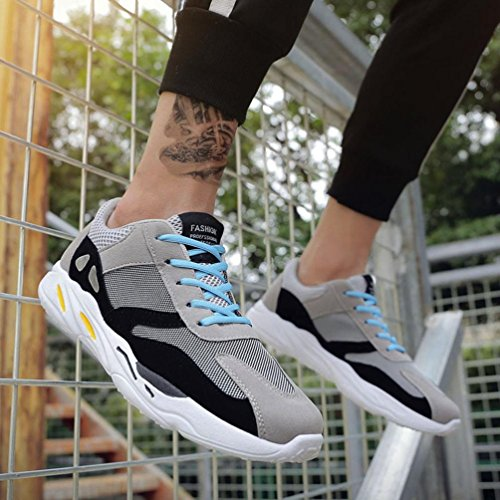 Hatop Mens Ultra Lightweight Breathable Mesh Street Sport Walking Shoes Casual Sneakers Gray t8jBOWqY