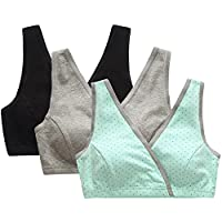 CAKYE Women's Nursing Tank Sleep Bra For Nursing And Maternity (Small/ 34B,34...