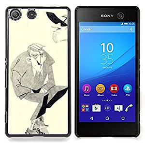 For Sony Xperia M5 E5603 E5606 E5653 Case , Man Moustache Hitler Art dessin au crayon - Diseño Patrón Teléfono Caso Cubierta Case Bumper Duro Protección Case Cover Funda