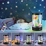 Star Projector Lights - New Animated Night Light,360 Rotating Dimmable Dynamic Lamp,Sleep Soothing 16 Color Changing Lamp with Remote Control for Kids, Bedroom, Birthday, Nursery Light, Christma