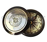 Collectibles Buy Vintage Pocket Marine Brass Round Compass Nautical Black Antique Navigational Device - Handmade Gift Article