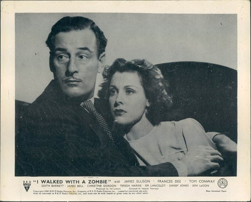 I WALKED WITH A ZOMBIE ORIGINAL 1943 LOBBY CARD FRANCES DEE TOM CONWAY PORTRAIT from Silverscreen