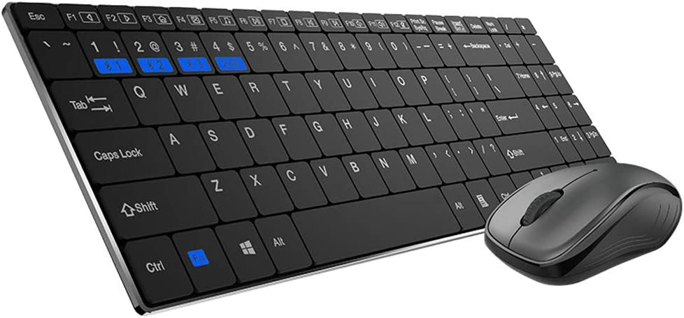 SELCNG Bluetooth Wireless Mouse and Keyboard Set Multi-Mode Office Multimedia Mouse Keyboard Thin