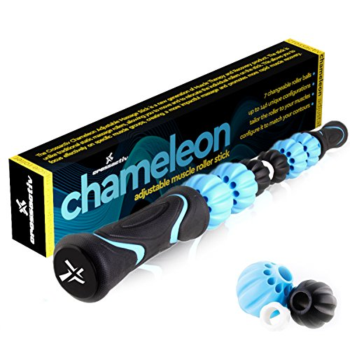 Crossactiv Chameleon Changeable Massage Stick Muscle Roller with Quickstart (Cell Roller Leg)
