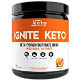 IGNITE KETO BHB Salts - Exogenous Ketones Supplement with 12g Pure BHB - IGNITE Ketosis, Energy, Focus and Fat Burn - Fuel a Ketogenic Diet - Patented goBHB Beta Hydroxybutyrate - Ketone Powder Drink