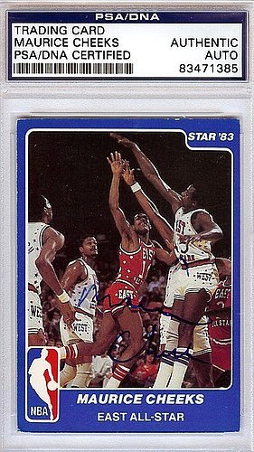 d90516116c78 Maurice Cheeks Signed 1983 Star Trading Card  3 - Certified Genuine  Autograph By PSA