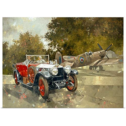 GREATBIGCANVAS Poster Print Entitled Ghost and Spitfire by Peter Miller 36