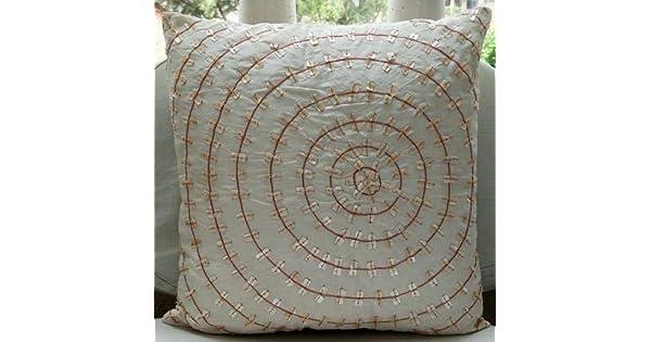 Amazon.com: Diseñador decorativo Blanco almohada cubierta ...