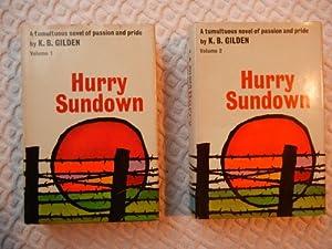 Hardcover Hurry Sundown - Two Volumes Set Book
