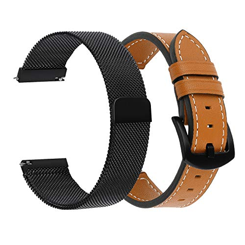 Gear S3/Galaxy Watch 46mm Bands, iWonow 22mm Genuine Leather