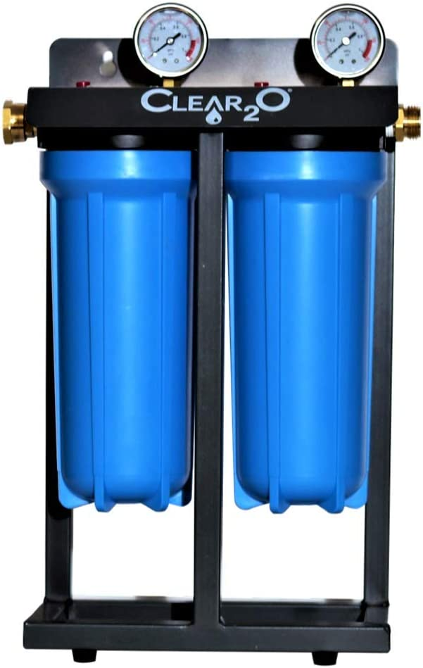 Mountable /& Built in Stand Superior Filtration Water Purification System Clear2o CDC200 Dual Canister Water Filtration System Built to Last Quality