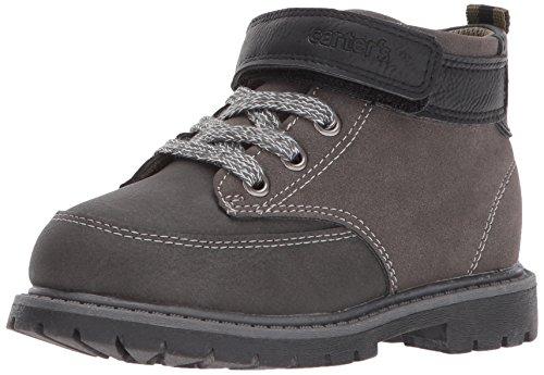 Carter's Boys' Pecs Fashion Boot, Grey/Black, 11 M US Little (Boys Shoe Size)