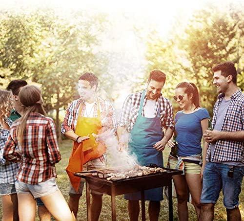 Anyi Set-5 Grill Professionnel Ensembles De Barbecue Combinaison Outil + 2 Rouleaux De Sacs De Papier D'aluminium Tissu Barbecue Emballage Extérieur en INOX Grill Set Barbecue