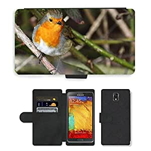 PU LEATHER case coque housse smartphone Flip bag Cover protection // M00129890 Pico pájaro plumas animales lindas // Samsung Galaxy Note 3 III N9000 N9002 N9005