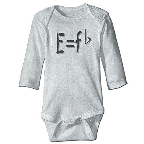 Price comparison product image Richard Unisex Newborn Bodysuits E Equals F Flat E Equqls Mc2 Girls Babysuit Long Sleeve Jumpsuit Sunsuit Outfit 6 M Ash