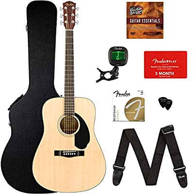 Fender CD-60S Dreadnought Acoustic Guitar - Natural Bundles