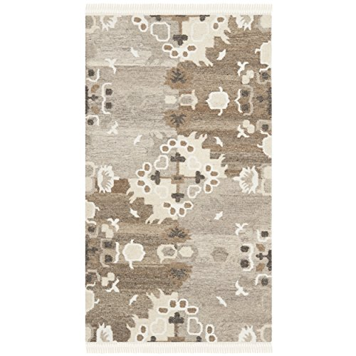 Safavieh Natural Kilim Collection NKM318A Flatweave Grey and Multi Wool Area Rug 2 x 3