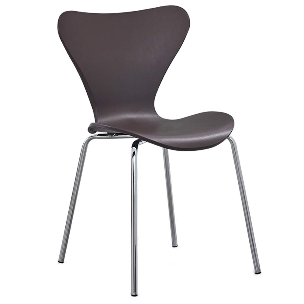 Brown LJFYXZ Dining Chairs Kitchen Chair Modern Simplicity Arc backrest Steel Tube Leg Strong Carrying Capacity 6 colors 49x53x80cm (color   Red)