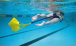 StrechCordz - Paracaídas de arrastre para natación, 20 cm, color amarillo