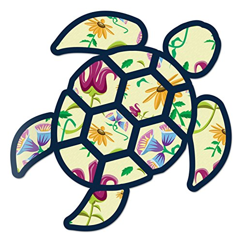 (Red Hound Auto Sea Turtle Vintage Floral Print Sticker Decal Wall Tumbler Cup Window Car Truck Laptop 12