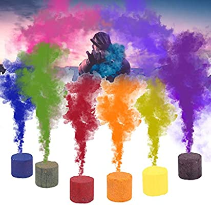 💕💕 6pcs Smoke Cake Colorful Smoke Effect Show Round Bomb Stage