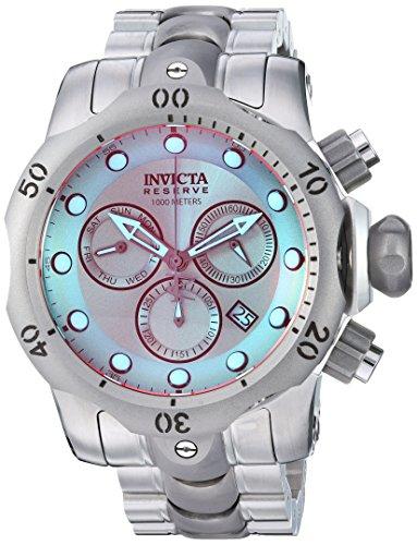 Invicta Men's Reserve Quartz Watch with Stainless-Steel Strap, Silver, 25.75 (Model: 25043) (Invicta Titanium)