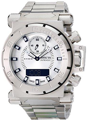 Invicta Men's 12487 Coalition Forces Analog-Digital Display Swiss Quartz Silver Watch