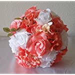 Coral-Reef-White-Rhinestone-Rose-Hydrangea-Bridal-Wedding-Bouquet-Boutonniere