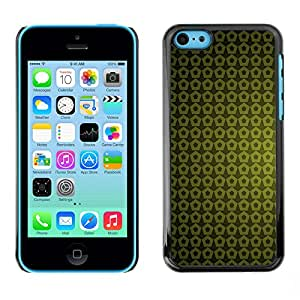 Paccase / SLIM PC / Aliminium Casa Carcasa Funda Case Cover - Texture Green Yellow - Apple Iphone 5C